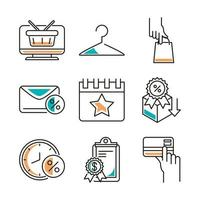lokale business line-art icon set