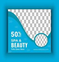 beauty spa sociale media vector