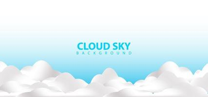 realistische witte wolken hemel ontwerpsjabloon achtergrond