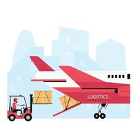 luchtpost logistiek proces vector