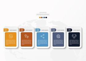 kleurrijke afgeronde rechthoeken met witte randen infographic