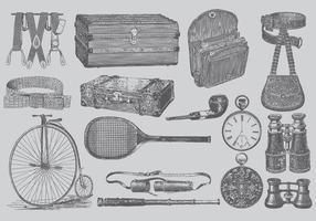 Vintage Heren Accessoires vector