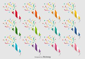 Party Poppers Vector Pictogrammen