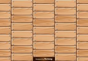 Vector naadloos patroon van houten planken met nagels