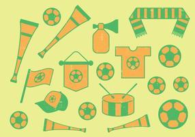Voetbal Pictogrammen vector