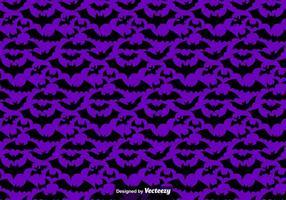 Vector naadloos patroon van zwarte vleermuizen silhouetten