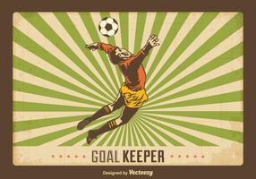 Gratis Retro Goal Keeper Vector Achtergrond