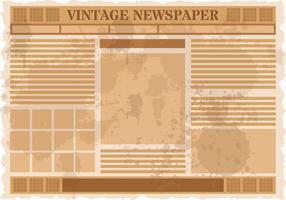 Vintage Oude Krant Vector