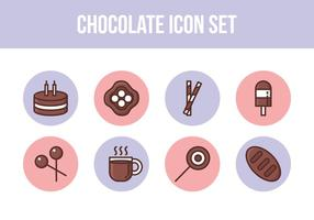 Gratis Chocolade Icon Set