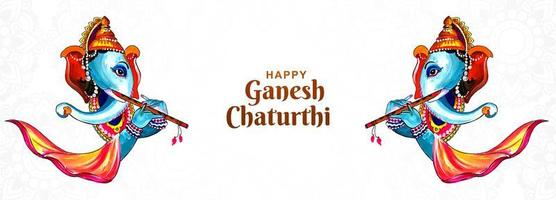 geschilderde ganesh chaturthi indian festival banner