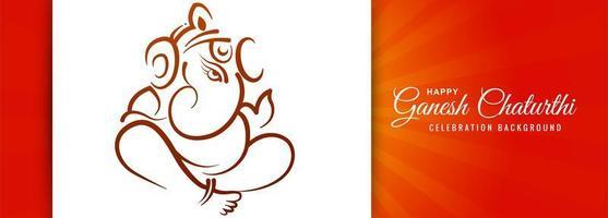 Indisch festival voor ganesh chaturthi-banner
