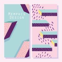Memphis ontwerp bewegingsbanners of kaartsjabloon