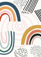 sjabloon voor abstracte, handgetekende eigentijdse vormen