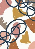 abstracte, handgetekende eigentijdse krabbels en vormen