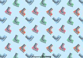 Vlakke schaatsers Patroon Achtergrond vector