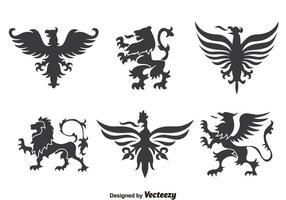 Heraldiek Ornament Inzameling Vector