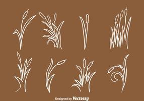 Handgetekende Reeds Collection vector