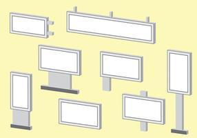 Isometrische Hoarding Vector