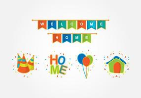 Welkom Home Party Decoratie vector