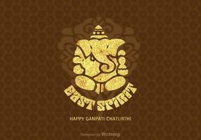 Gratis Gelukkige Ganpati Chaturthi Vector Kaart