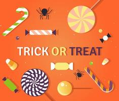 Halloween Truc of Behandel Candy Vector Illustratie