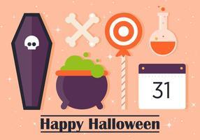 Gratis Flat Halloween Vector Elementen