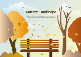 Gratis Vector Autumn Park Bench