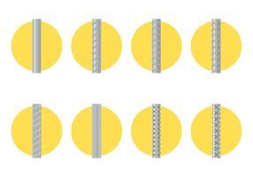 Rebaar Flat Icon vector