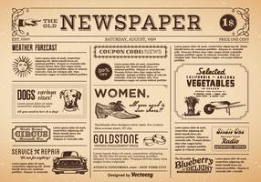 Gratis Oude Krant Vector
