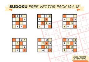 Sudoku Gratis Vector Pack Vol. 18