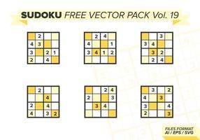 Sudoku Gratis Vector Pack Vol. 19