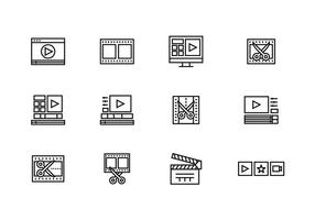 Video Editor Icons vector