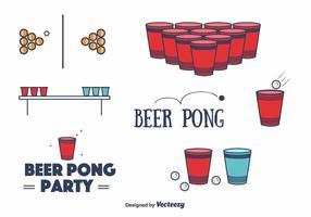 Gratis Bier Pong Vector