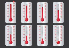 Gratis Doel Thermometer Pictogrammen Vector