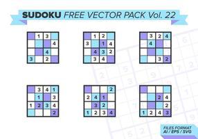 Sudoku Gratis Vector Pack Vol. 22