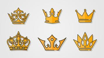 Luidruchtige luxe kroon vector