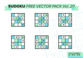 Sudoku Gratis Vector Pack Vol. 20