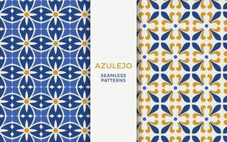 Azulejo Vector Patroon Set