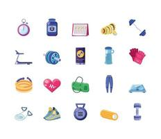 groep fitness pictogrammen