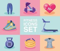 verzameling fitness iconen