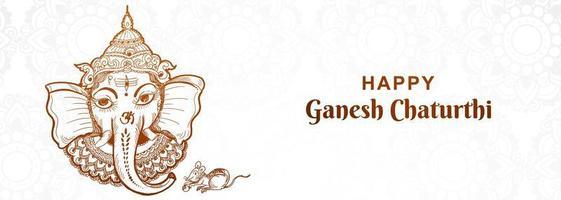 artistieke ganesh chaturthi festival banner