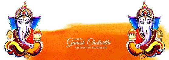 festivalbanner voor gelukkige ganesh chaturthi-banner