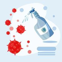 desinfecterende fles ter bescherming tegen coronavirus
