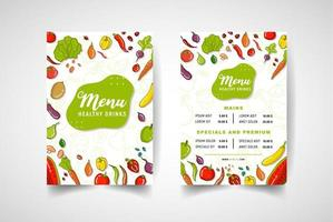 kleurrijk stijl vegetarisch restaurantmenu
