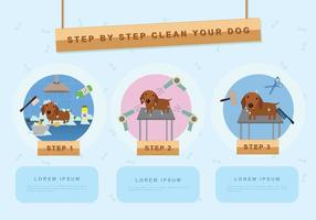 Gratis Dog Wash Illustratie