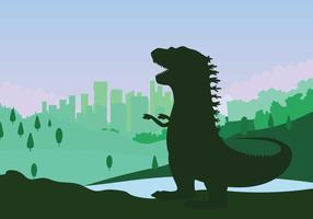 Gratis Godzilla Illustratie vector