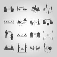 sociale afstandspictogrammen