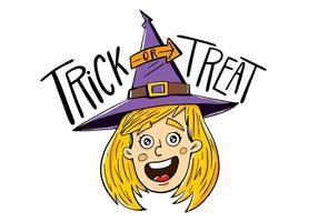 Halloween Karakter Vector Heks