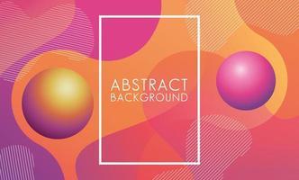 abstracte achtergrond met levendige kleuren en vierkant frame