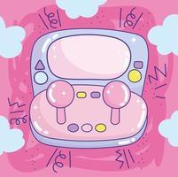 kawaii draagbaar videogame met joystick